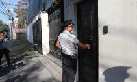 Agentes de la Polic'a Nacional Civil llega a las instalaciones de CICIG para notificar que el  Gobierno de Guatemala orden— el retiro de los agentes de la Polic'a Nacional Civil (PNC) que daban seguridad a la sede de la Comisi—n Internacional contra la Impunidad en Guatemala (Cicig), zona 14.   Erick Avila                   23/01/2019