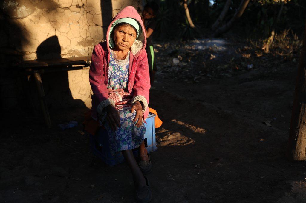 Toribia Santiago, aún espera ayuda. Esbin García