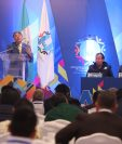 Edwin Escobar, presidente de la Anam, durante la asamblea nacional ordinaria de enero del 2019. (Foto Prensa Libre: Érick Ávila)                   26/01/2019
