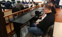 El expresidente del Congreso, Pedro Muadi, compareció sin hacer alguna petición en el Tribunal que lo juzgará. (Foto Prensa Libre: Esbin  García)