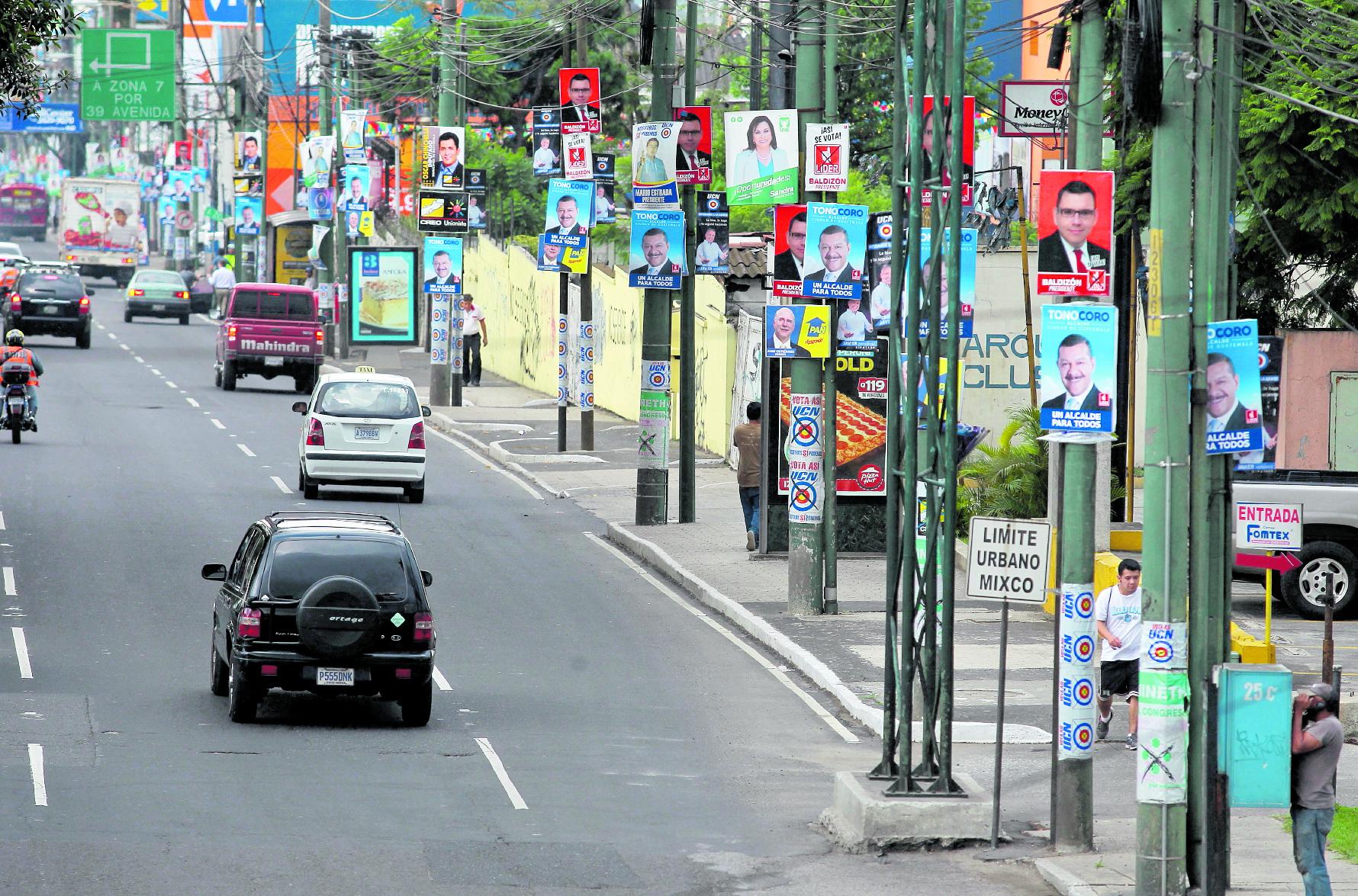 Los partidos políticos no podrán excederse de Q29.6 millones de campaña electoral. (Foto Prensa Libre: Hemeroteca PL)