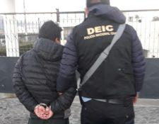 El  capturado fue trasladado al Centro Regional de Justicia. (Foto Prensa Libre: cortesía)
