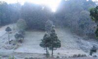 Este paisaje se observó en Sibilia, Quetzaltenango durante la mañana de este 30 de enero de 2019. (Foto Prensa Libre: cortesía Jesi Rodas)