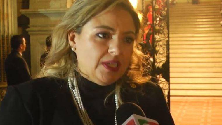 Sandra Jovel, ministra de Relaciones Exteriores. (Foto: Guatevisión)