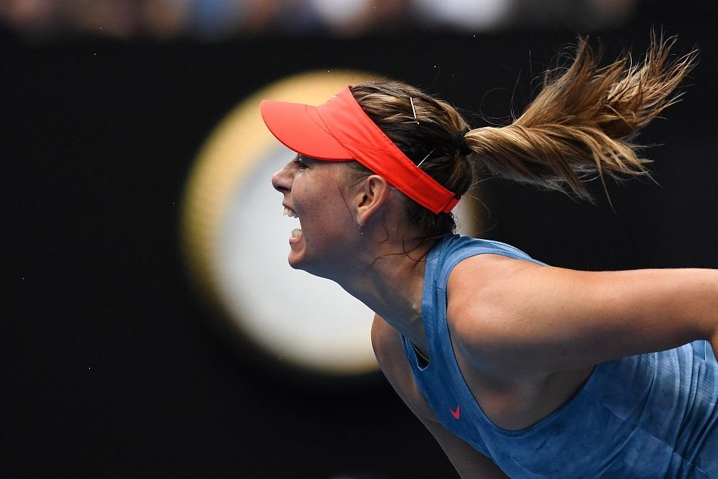 Maria Sharapova celebra la victoria sobre Caroline Wozniacki, en el Abierto de Australia. (Foto Prensa Libre: EFE)