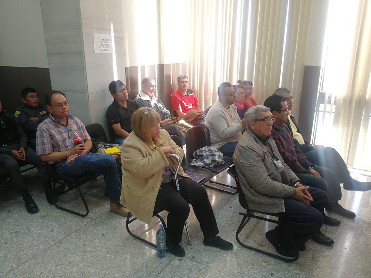 Los sindicados comparecen en el Juzgado Quinto Penal, donde son ligados a proceso. (Foto Prensa Libre: Hemeroteca PL)