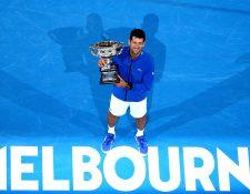 Novak Djokovic festejó una conquista más, en Australia. (Foto Prensa Libre: EFE)