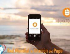 El Papa Francisco lanzó su perfil en la aplicación Click to Pray. (Foto Prensa Libre: Vatican News)