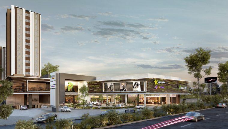 Así lucirá la fachada del centro comercial Pradera Vistares en Zona 12. (Foto Prensa Libre: Cortesía)