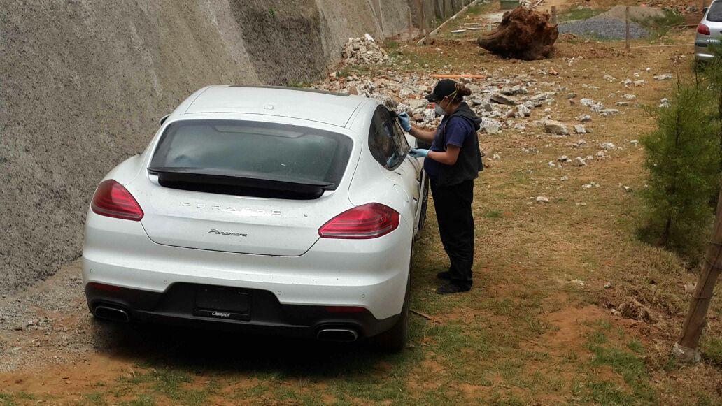 El Porsche fue robado en Miami, FLorida, el año pasado. (Foto: PNC)