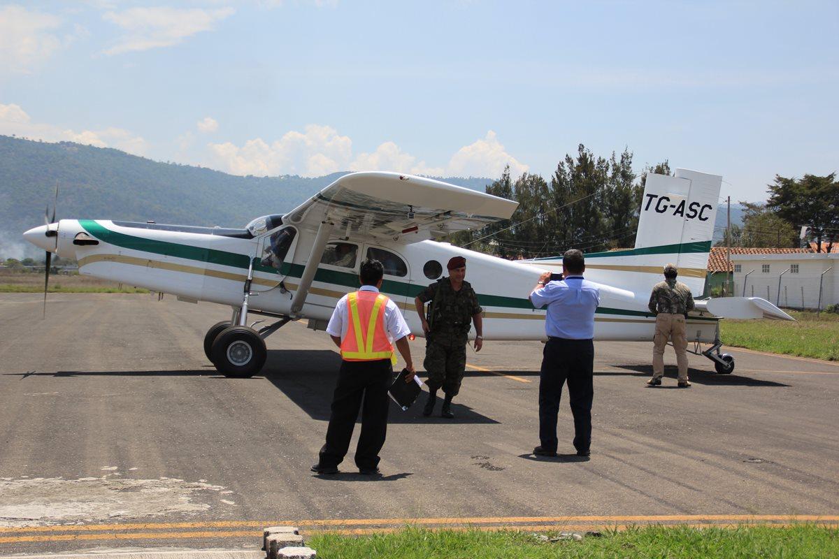 El aeródromo de Huehuetenango, ha sido utilizado para viajes privados. (Foto Prensa Libre: Mike Castillo)