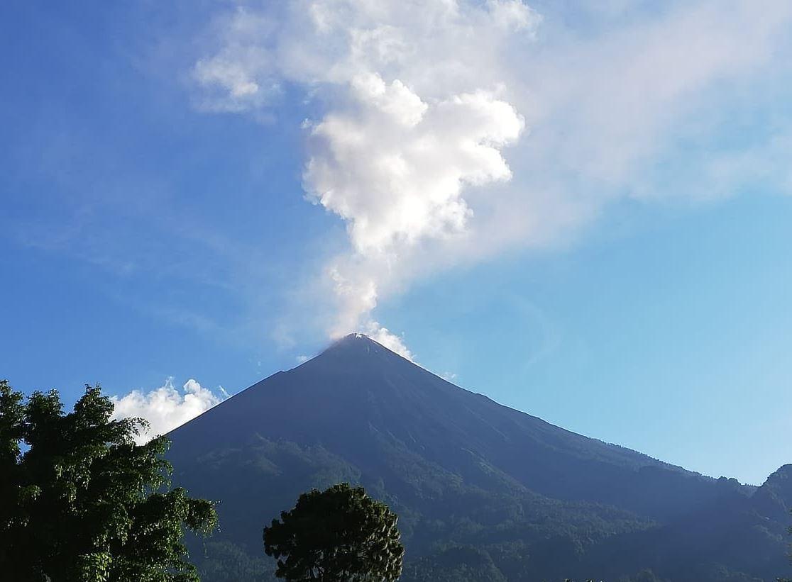 Actividad eruptiva del Volcán de Fuego finaliza; monitoreo se mantiene