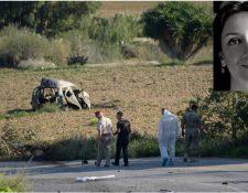 La periodista murió por la explosión de una bomba en su vehículo, en la región de Malta. (Foto Prensa Libre: AFP)