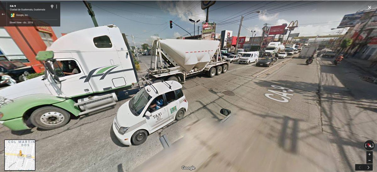 EL viaducto será construido en la 13 avenida de la Calle Martí, zona 6. (Foto Prensa Libre: Google Maps)