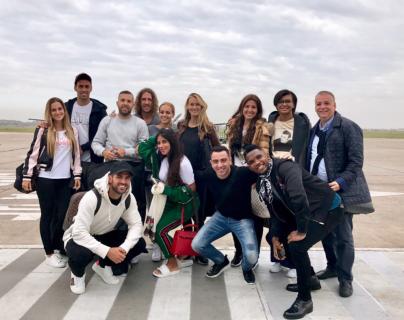 Puyol, Fábregas, Alba, Busquets, Xavi y Eto'o llegaron hoy a Rosario para la boda de Messi y Antonela. (Foto Prensa Libre: Instagram Carles Puyol)
