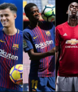 Neymar, Coutinho, Dembélé, Pogba y Bale, los cinco jugadores más caros de la historia. (Foto Prensa Libre: BBC Mundo)