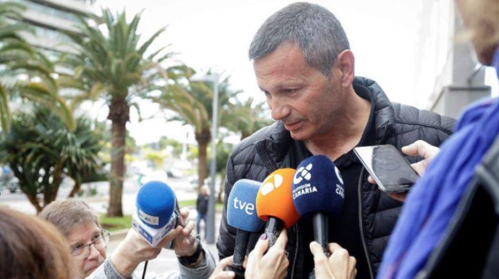 El exatleta mostró su rabia después de declarar. (Foto Prensa Libre: EFE)