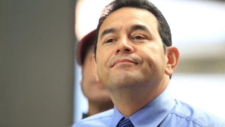 Jimmy Morales se ha pronunciado en dos ocasiones a la injerencia extranjera en el país. (Foto Prensa Libre: Hemeroteca PL)