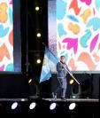 Pedropablo de la Roca fue el abanderado de la delegación guatemalteca en la ceremonia de Buenos Aires 2018. (Foto Prensa Libre: COG)