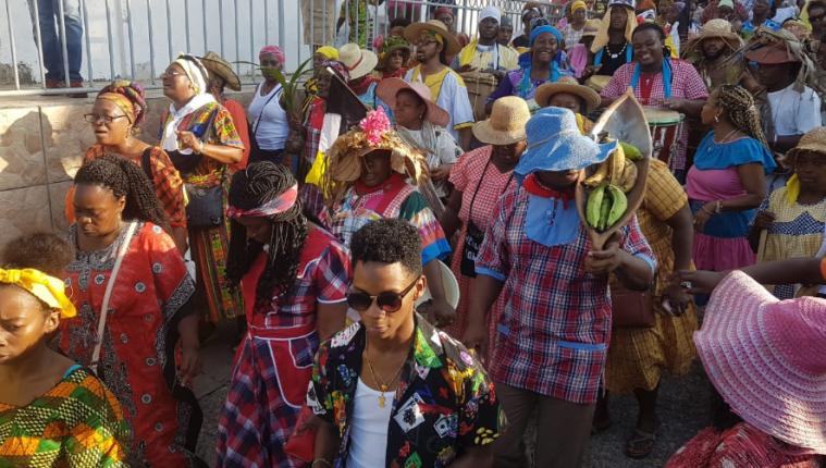 Garífunas celebran su día con distintas actividades en Lívingston. (Foto Prensa Libre: Dony Stewart).