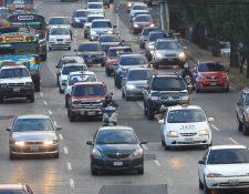 El parque vehicular en Guatemala ya ronda los 1.5 millones. (Foto Prensa Libre: Hemeroteca PL)