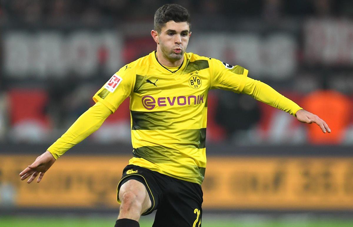 Christian Pulisic dejará el Borussia Dortmund después de tres años en la Bundesliga. (Foto Prensa Libre: AFP)