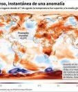 Mapamundi indica que el 7 de agosto del 2018 la temperatura global fue superior a la media desde 1979 al 2000. (AFP)