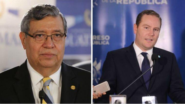 Jafeth Cabrera, vicepresidente de la República, y Álvaro Arzú Escobar, presidente del Congreso. (Foto Prensa Libre: Hemeroteca PL)