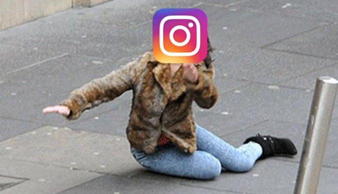 Instagram y su caída fueron motivo de memes en redes sociales (Foto Prensa Libre: Twitter).