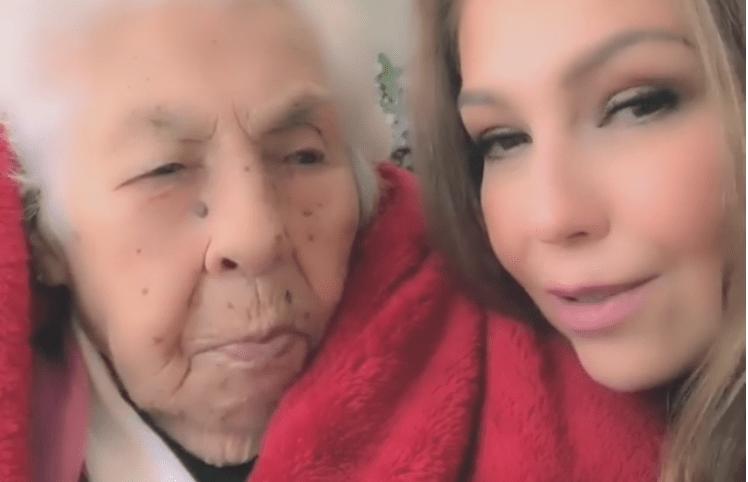 Thalía y su abuela, protagonistas en Instagram (Foto Prensa Libre: Thalía).
