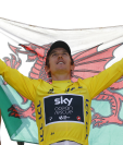 El galés Geraint Thomas disfruta ser el rey del Tour de Francia. (Foto Prensa Libre: EFE)