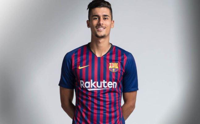 Juan Brandariz 'Chumi', jugador del Barcelona, que vio acción en la Copa del Rey. (Foto Prensa Libre: FC Barcelona)