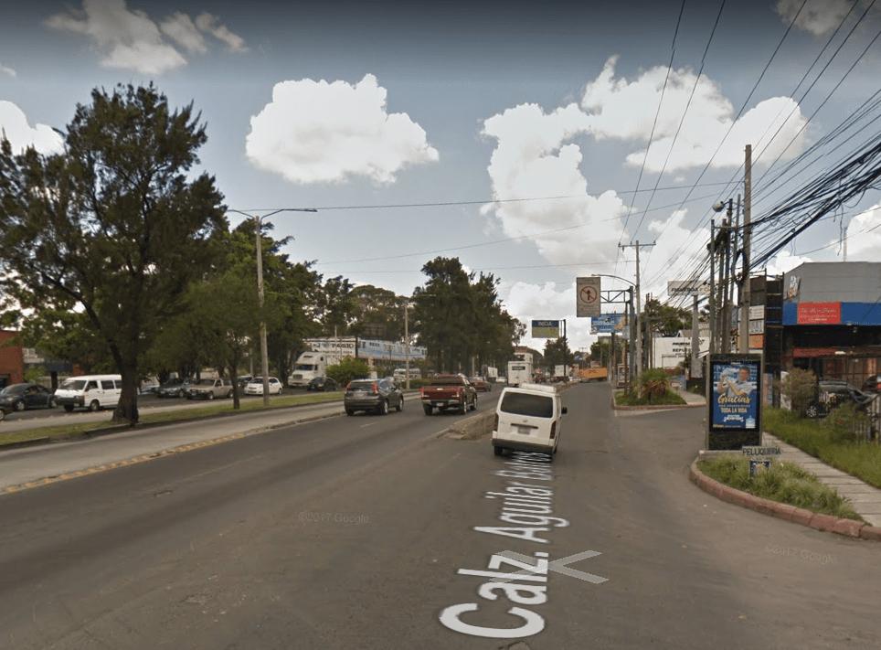 Vista desde la 38 calle y calzada Raúl Aguilar Batres, donde comenzarán los trabajos.( Foto Prensa Libre: google maps)