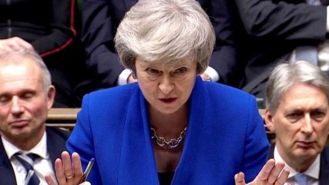La primera ministra británica, Theresa May, no ha mostrado tener intención de renunciar. REUTERS