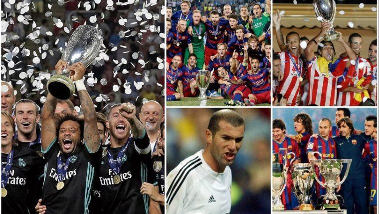 España es el país que más veces ha ganado la Supercopa de Europa con el Barcelona y Real Madrid a la cabeza. (Foto Prensa Libre).