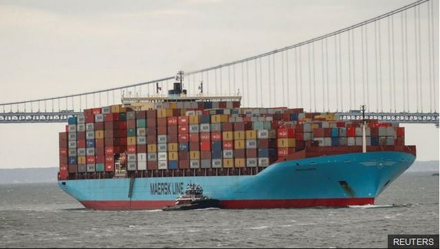 Maersk controla el 19% del transporte marítimo del mundo. (Foto Prensa Libre: Reuters)