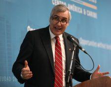 Jorge O´Ryan Shcuëtz, director global de ProChile dijo que Chile observa a la región Centroamericana con un potencial de negocios e inversiones. (Foto Prensa Libre: Esbin García)