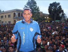 Gerson Tinoco con sus goles fue clave para el ascenso de Cobán Imperial a la Liga Nacional. (Foto Prensa Libre: Hemeorteca PL)