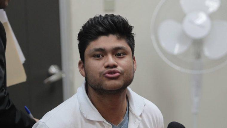 José Luis Osoy Hernández, de 23 años, fue detenido el 23 de febrero en la zona 10 de Mixco. (Foto Prensa Libre: Érick Ávila)