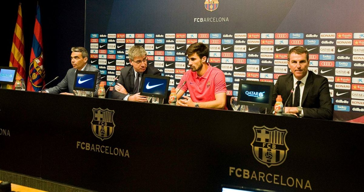 "André Gomes llega al Barcelona ""a seguir creciendo"""