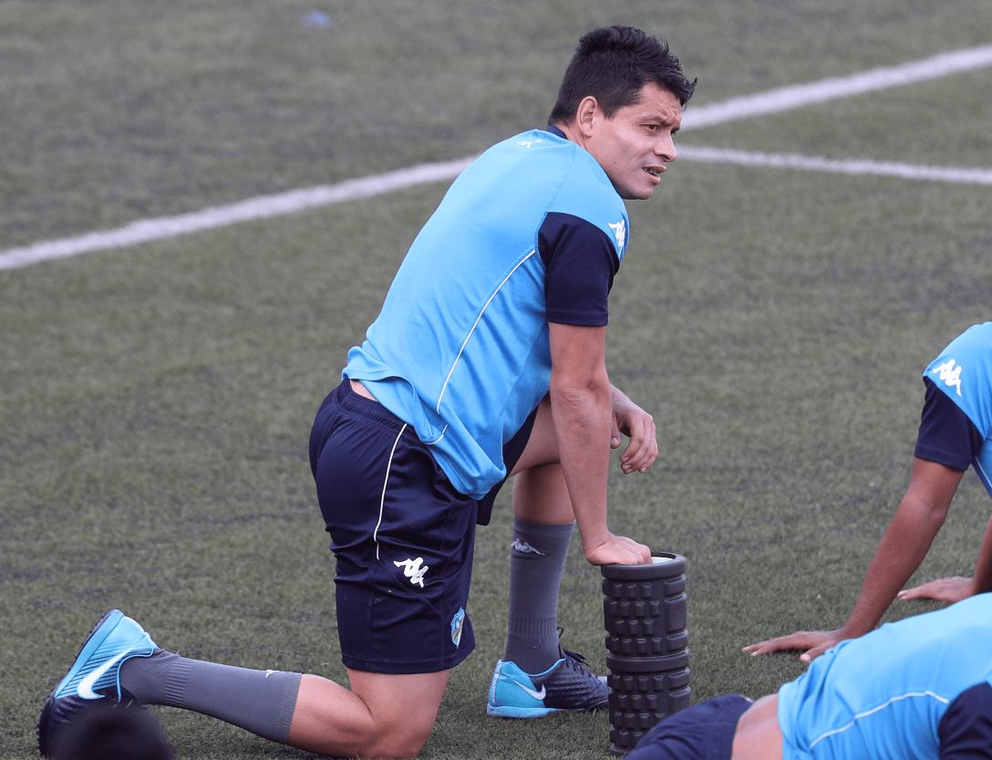 El delantero de Comunicaciones Robin Betancourth fue determinante en la serie frente a Xelajú MC, para estar en la gran final del Apertura 2018. (Foto Prensa Libre: Carlos Vicente)