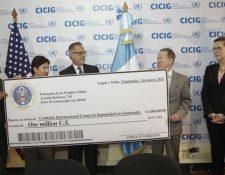 Estados Unidos ha entregado fondos a la Cicig como en el 2016 cuando realizó un aporte de US$1 millón para abrir nueva sede de investigación. (Foto Prensa Libre: Hemeroteca)