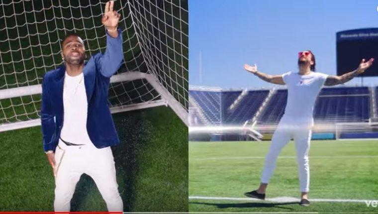 Jason Derulo y Maluma en una de las imágenes del video. (Foto Prensa Libre: Captura de Pantalla Youtube)