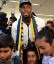 Usain Bolt, exvelocista y medallista olímpico, arribó a Australia para jugar con el Central Coast Mariners. (Foto Prensa Libre: AFP).