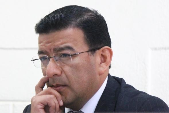 German Estuardo Velásquez Pérez es condenado a cinco años de prisión conmutables, en Xela. (Foto Prensa Libre: María José Longo)