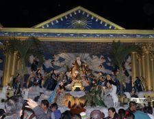 Las imágenes que se utilizan en el nacimiento de San Pedro Yepocapa, Chimaltenango. (Foto Prensa Libre: Víctor Chamalé)