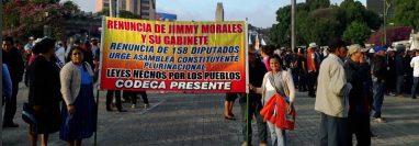 Codeca anuncia manifestaciones para el 12 de septiembre. (Foto Prensa Libre: Codeca)