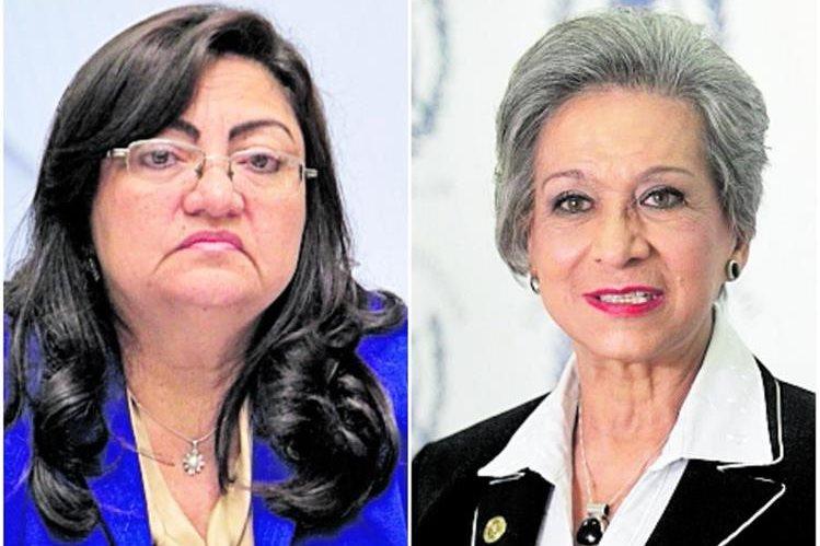Delia Dávila (izquierda) y María Eugenia Morales, magistradas de la Corte Suprema de Justicia. (Foto: Hemeroteca PL)