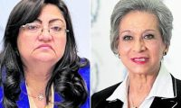 Magistradas Delia Franco y María Eugenia Morales.