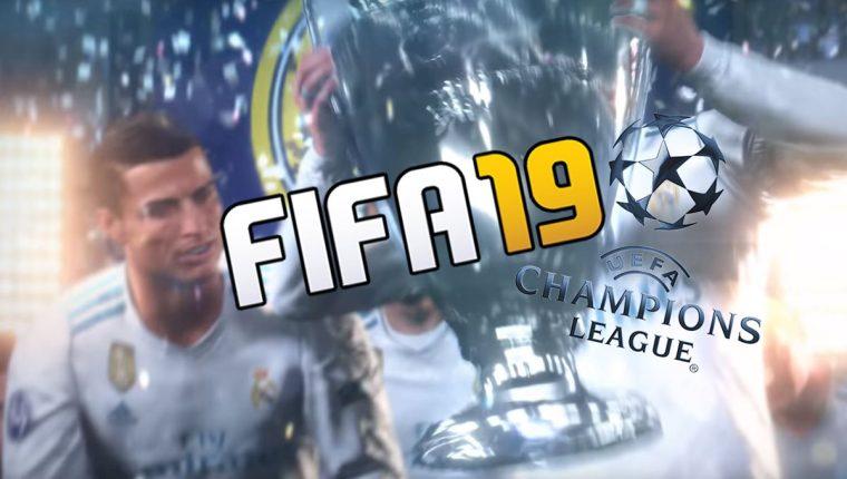 """Dos segundos dura el momento del anuncio oficial de la Champions League en Fifa 19 que enloqueció a los """"gamers"""". (Foto Prensa Libre: TodoDeportes)"""
